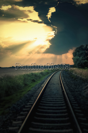 germany saxony view of railway track