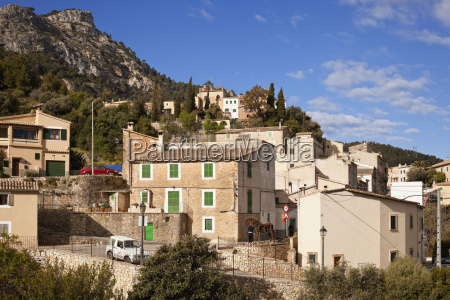 spain mallorca view of estellencs in