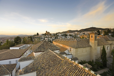 spain andalusia granada view of old