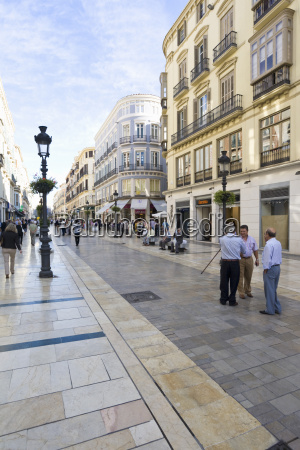 spain andalusia malaga people on shopping