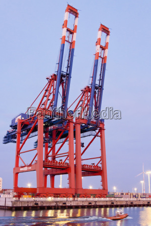 germany hamburg container cranes at eurogate