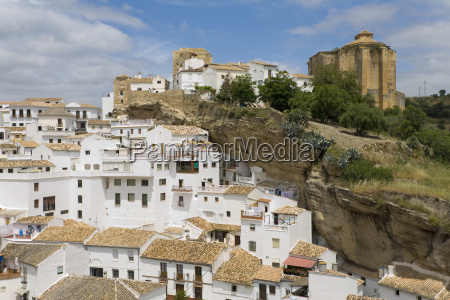 spain andalusia view of white mountain