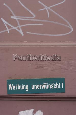germany hesse frankfurt no advertising sign