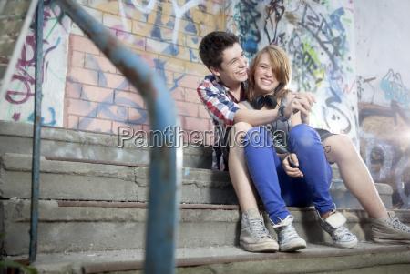 germany berlin teenage boy and girl