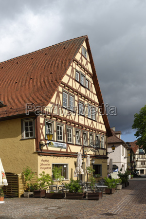germany bad mergentheim half timbered house