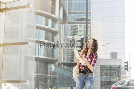 poland warsaw smiling young woman with