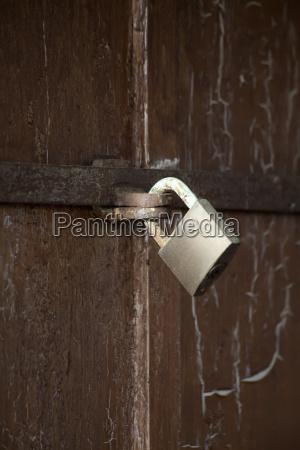 germany bavaria wuerzburg padlock on door