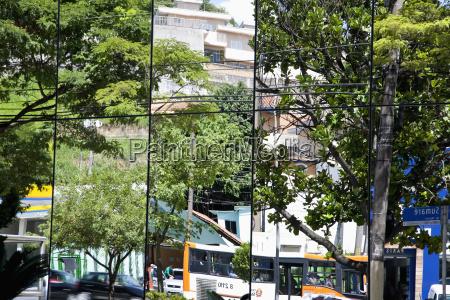 brazil sao paulo city reflecting in