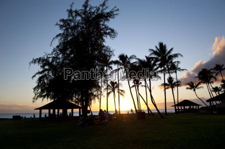 usa hawaii view of hanapepe beach