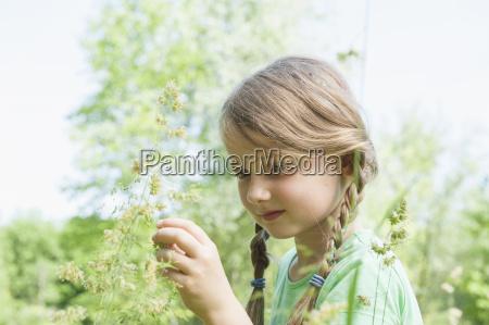 germany bavaria munich girl holding flower