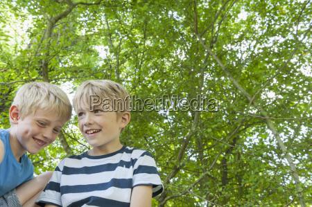 germany bavaria two boys smiling