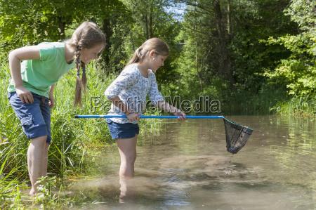 germany bavaria munich girls with fishing