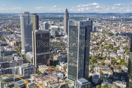 germany frankfurt view to the city