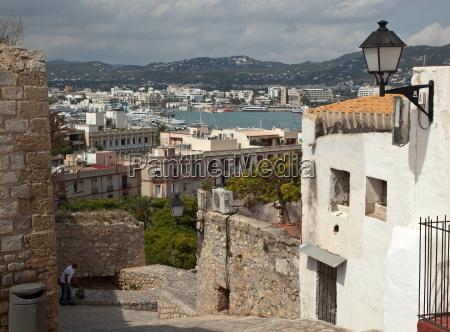spain ibiza view of ibiza city