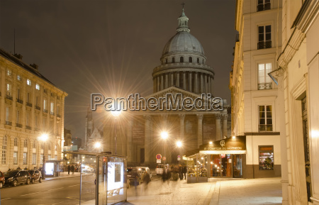 france paris view of pantheon at