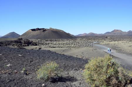 spagna vista del vulcano natural park