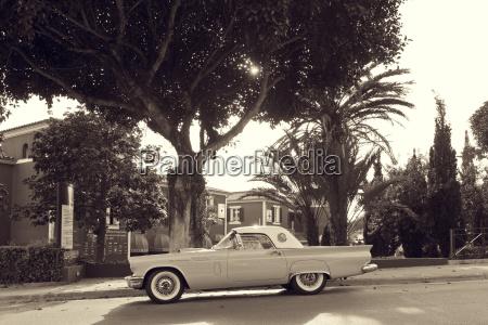 spain majorca thunderbird vintage car in