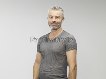 portrait of mature man smiling