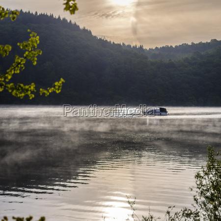 germany hesse waldeck lake edersee boat