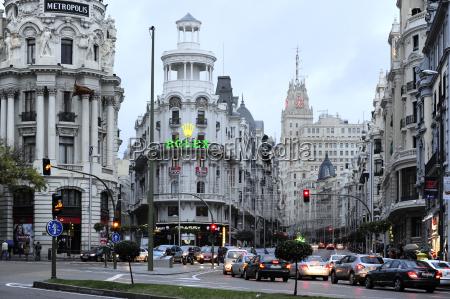 spain madrid historic city center calle