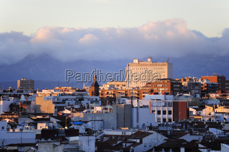 spain madrid city center view over