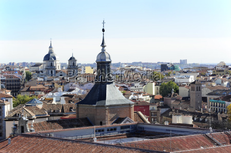 spain madrid historic city center iglesia
