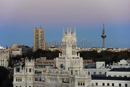 spain madrid city center palacio de