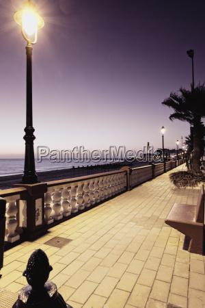 spain cadiz chipiona promenade and street