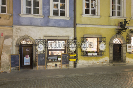 poland warsaw old town restaurants in