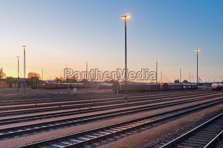 germany hamburg railway tracks at veddeler