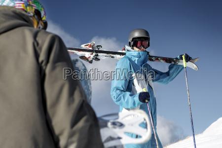 austria vorarlberg riezlern skier in the