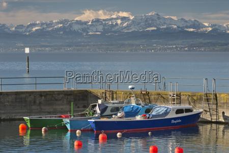 germany fishing boats and buoys at