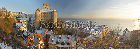 germany view of meersburg castle covered