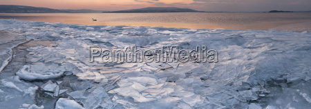 germany field of ice floes and