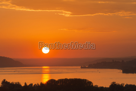 germany baden wurttenberg lake constance sunset