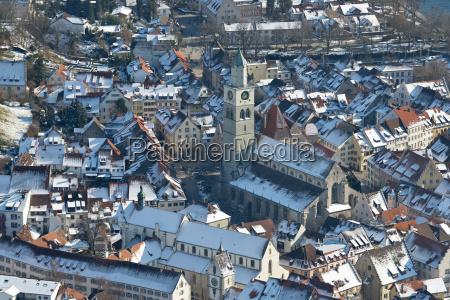 germany baden wurttemberg uberlingen aerial view