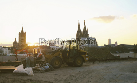 germany colgone building site across the
