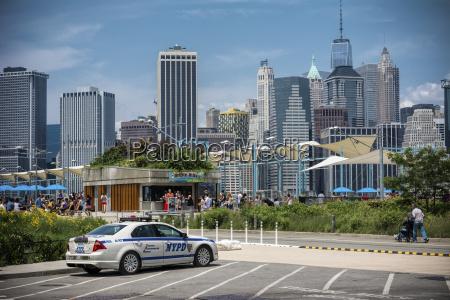 usa new york city police car