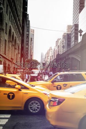 usa new york city yellow cabs