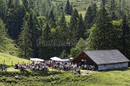 austria salzburg people celebrating pfeifertag festival