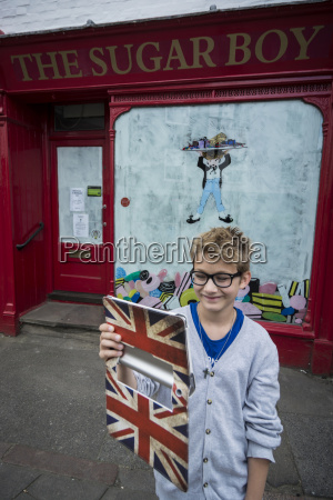 uk london portrait of boy standing