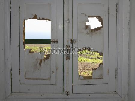 spain la gomera ruined door of