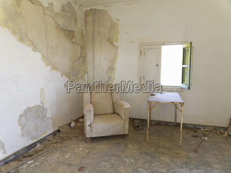 spain la gomera empty ruined room