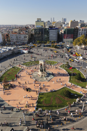 turkey istanbul view of taksim square