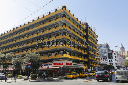 turkey istanbul view of parking deck