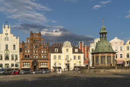germany wismar market square with the