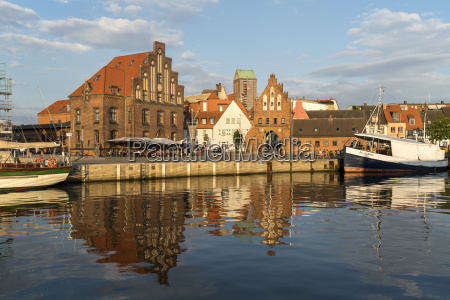 germany wismar historic old harbour watergate