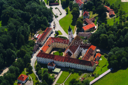 germany bavaria dietramszell aerial view of