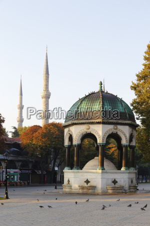 turkey istanbul kaiser wilhelm fountain and