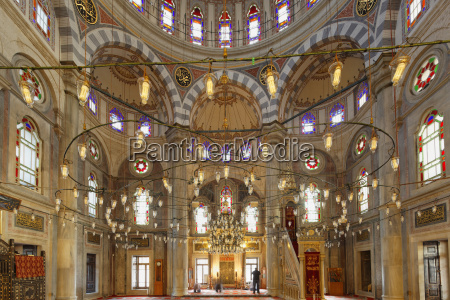 turkey istanbul interior of laleli mosque